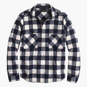 Jcrew Flannel Shirt Jacket